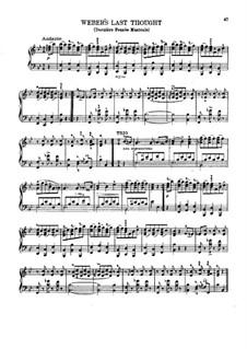 Weber's Last Waltz, Op.26 No.5: Для фортепиано (си бемоль мажор) by Карл Готлиб Райсигер