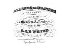 Allegro di bravura in A Minor, Op.50: Для фортепиано by Кристофер Эрнст Фридрих Вейсе