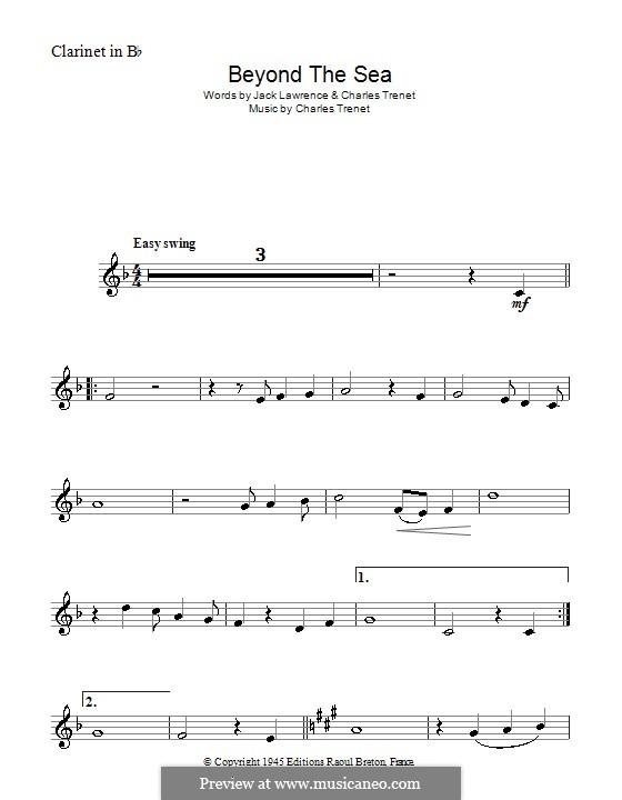 Beyond the Sea: Для кларнета by Albert Lasry, Charles Trenet