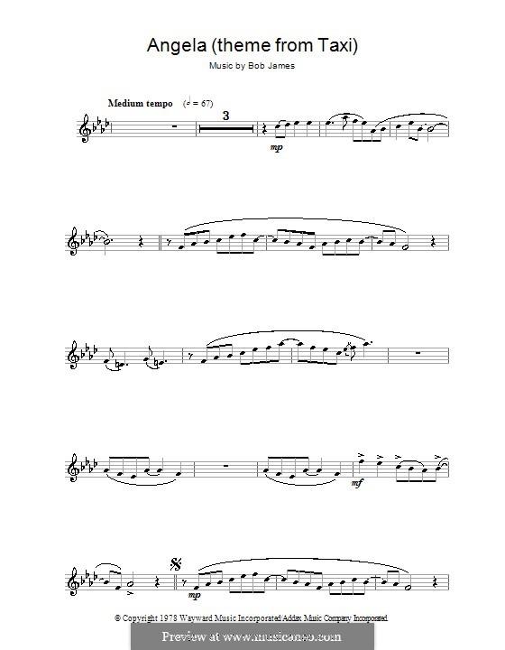 Angela (theme from Taxi): Для флейты by Bob James