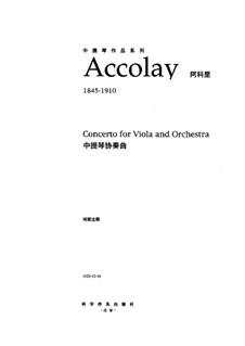 Концерт для скрипки с оркестром No.1 ля минор: Версия для альта и фортепиано by Жан-Батист Акколе