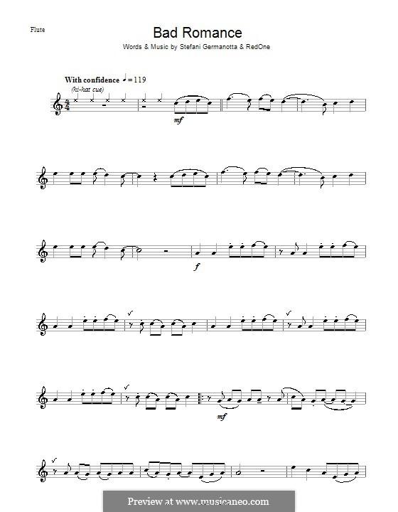 Bad Romance (Lady Gaga): Для флейты by RedOne, Stefani Germanotta