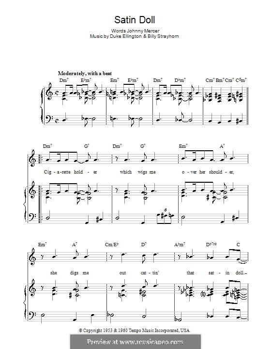 Satin Doll: Для голоса и фортепиано (или гитары) by Billy Strayhorn, Duke Ellington