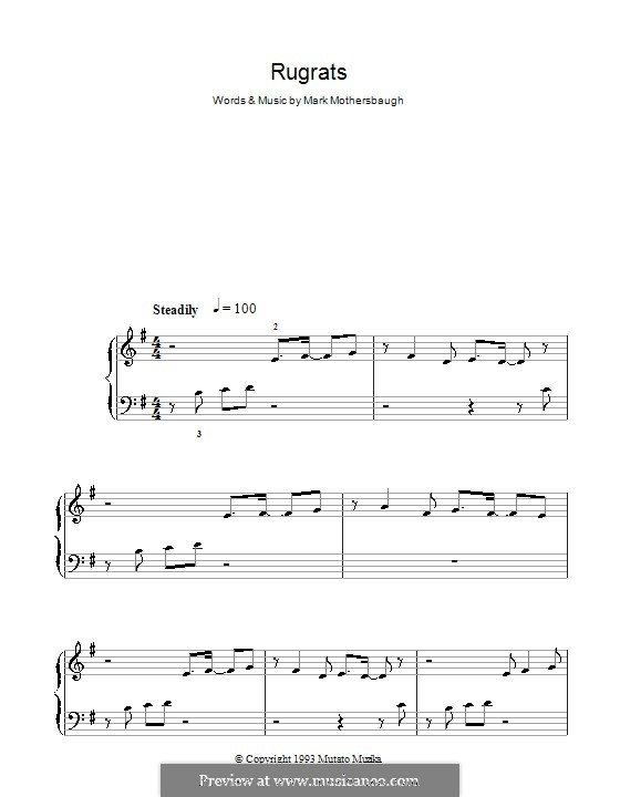 Rugrats Theme: Для начинающего пианиста by Mark Mothersbaugh
