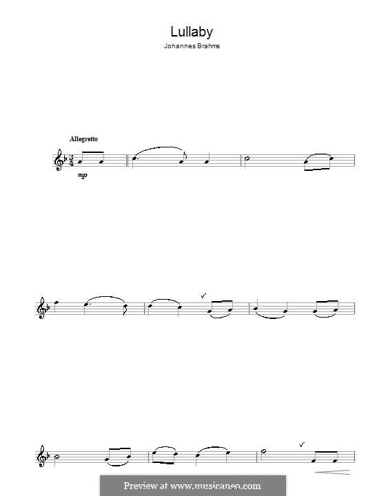 No.4 Колыбельная: Для альтового саксофона by Иоганнес Брамс