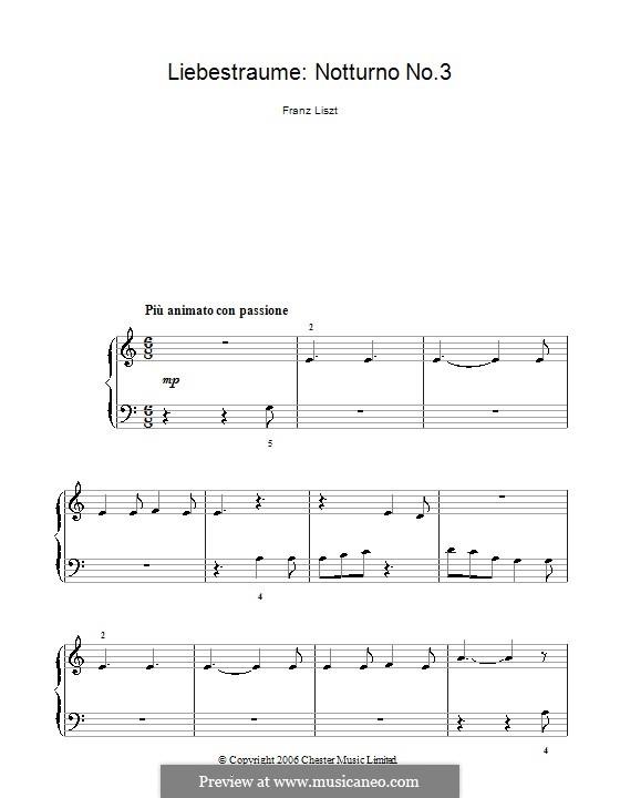 Ноктюрн No.3: Theme (very easy version) by Франц Лист