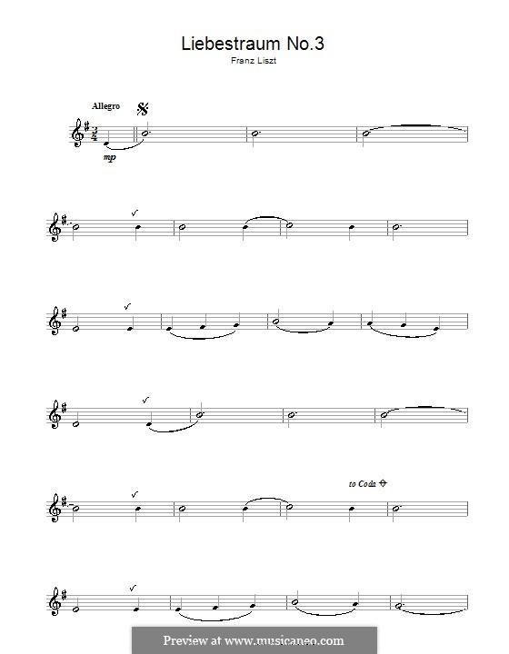 Ноктюрн No.3: Версия для флейты by Франц Лист