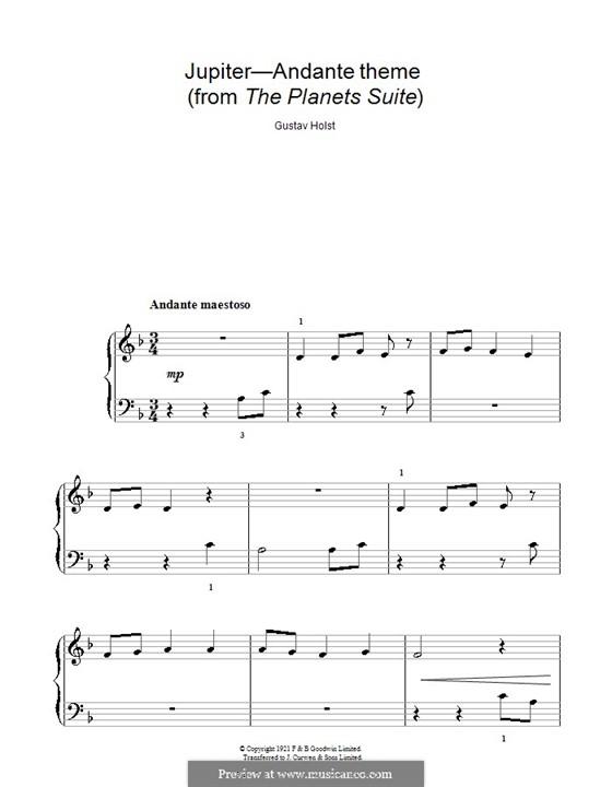 Юпитер: Версия для начинающего пианиста by Густав Холст