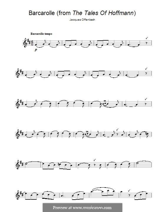 Баркарола: Версия для флейты by Жак Оффенбах
