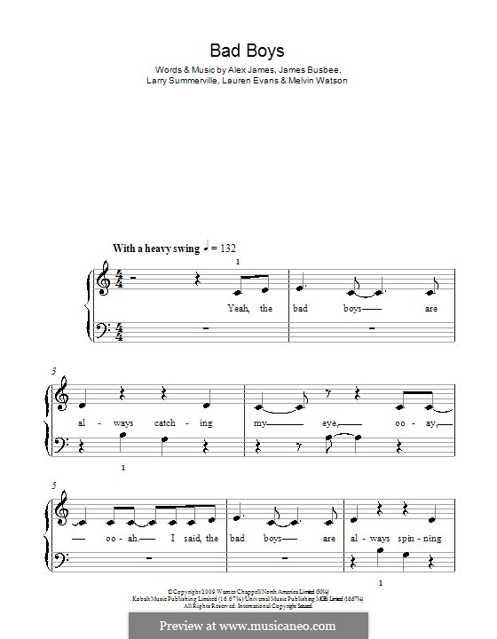 Bad Boys (Alexandra Burke): Для начинающего пианиста by Busbee, Larry Summerville, Lauren Evans, Melvin Watson, Alexander James