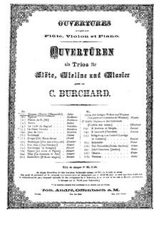 Увертюра: Для флейты, скрипки (виолончели ad libitum) и фортепиано – партия фортепиано by Даниэль Обер