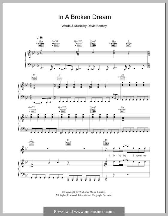In a Broken Dream (Rod Stewart): Для голоса и фортепиано (или гитары) by David Bentley