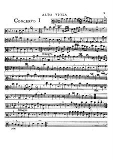 Шесть концетров, Op.2: Alto viola part by Чарльз Ависон
