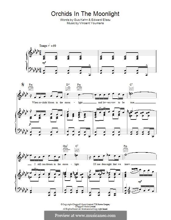 Orchids in the Moonlight: Для голоса и фортепиано (или гитары) by Винсент Юманс