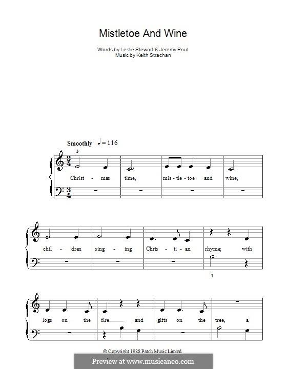 Mistletoe and Wine (Cliff Richard): Для начинающего пианиста by Keith Strachan