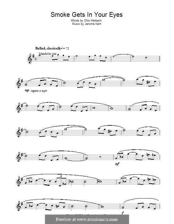 Smoke Gets in Your Eyes (from 'Roberta'): Для кларнета by Джером Керн