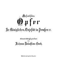 Музыкальное приношение, BWV 1079: Партитура by Иоганн Себастьян Бах