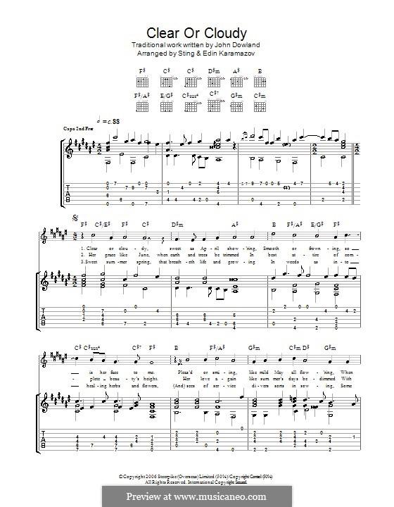 Clear or Cloudy: Для гитары by Джон Доуленд