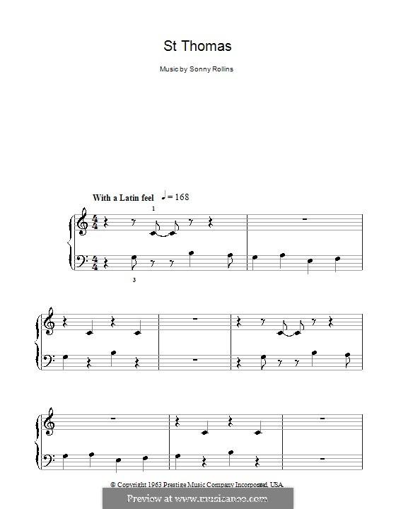 Vocal-instrumental version: Для начинающего пианиста by Sonny Rollins