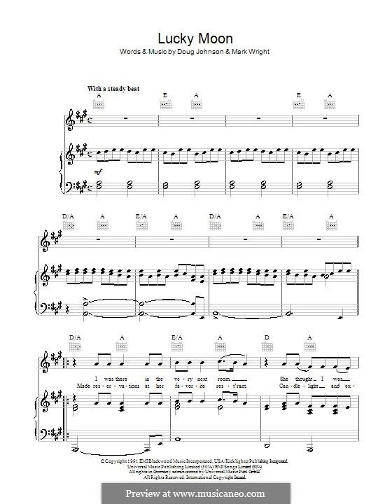 Lucky Moon (The Oak Ridge Boys): Для голоса и фортепиано (или гитары) by Doug Johnson, Mark Wright