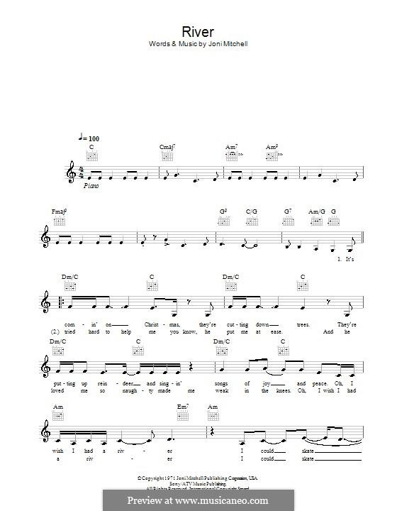 River: Мелодия, текст и аккорды by Joni Mitchell
