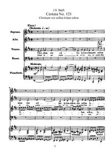 Христа восславим ныне, BWV 121: Клавир с вокальной партией by Иоганн Себастьян Бах
