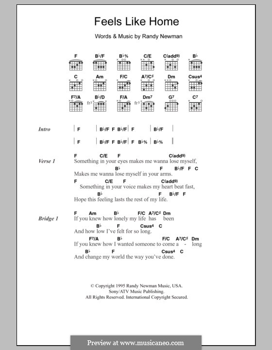 Feels Like Home: Текст и аккорды by Randy Newman
