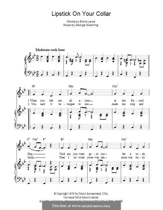 Lipstick on Your Collar: Для голоса и фортепиано (или гитары) by George Goehring