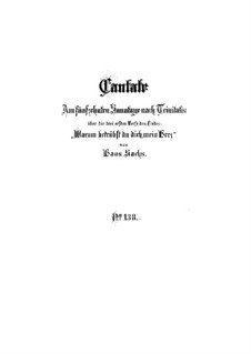 Warum betrübst du dich, mein Herz, BWV 138: Партитура by Иоганн Себастьян Бах