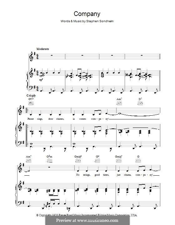Company: Для голоса и фортепиано (или гитары) by Stephen Sondheim