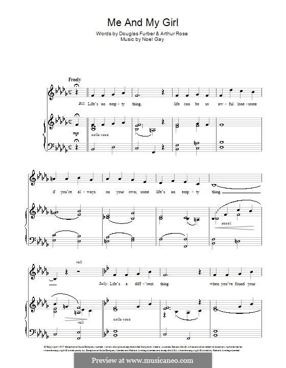 Me and My Girl: Для голоса и фортепиано (или гитары) by Noel Gay