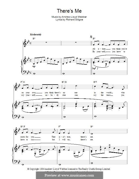 There's Me: Для голоса и фортепиано (или гитары) by Andrew Lloyd Webber