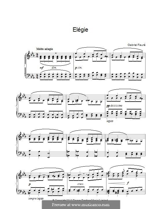 Элегия, Op.24: Для фортепиано by Габриэль Форе