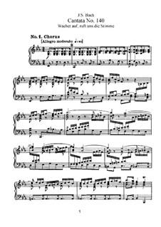 Wachet auf, ruft uns die Stimme, BWV 140: Клавир с вокальной партией by Иоганн Себастьян Бах