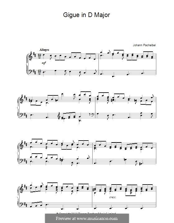 Жига ре мажор: Жига ре мажор by Иоганн Пахельбель