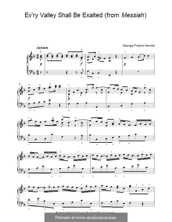 No.3 Всякий дол да наполнится: Для фортепиано by Георг Фридрих Гендель