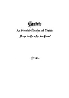 Воздайте Господу славу имени Его, BWV 148: Партитура by Иоганн Себастьян Бах