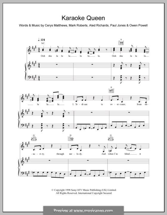 Karaoke Queen: Для голоса и фортепиано (или гитары) by Catatonia
