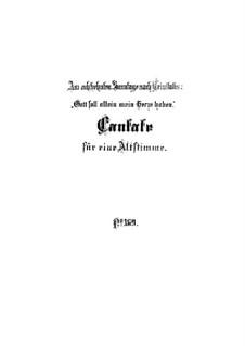Пусть Бог един моим владеет сердцем, BWV 169: Партитура by Иоганн Себастьян Бах