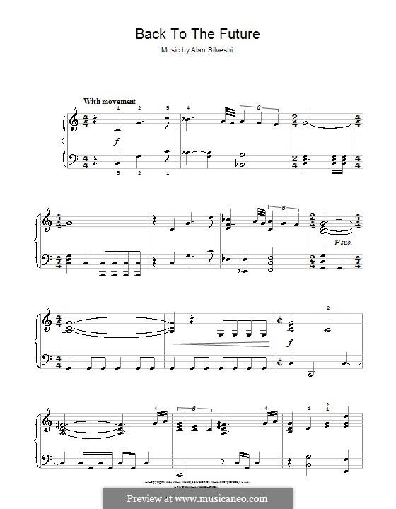 Back to the Future (Theme): Для начинающего пианиста by Alan Silvestri