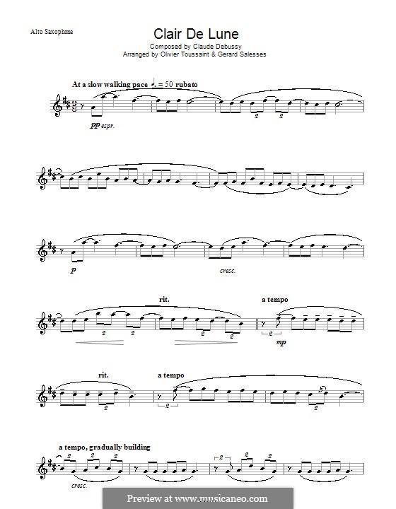 No.3 Лунный свет: Для альтового саксофона by Клод Дебюсси