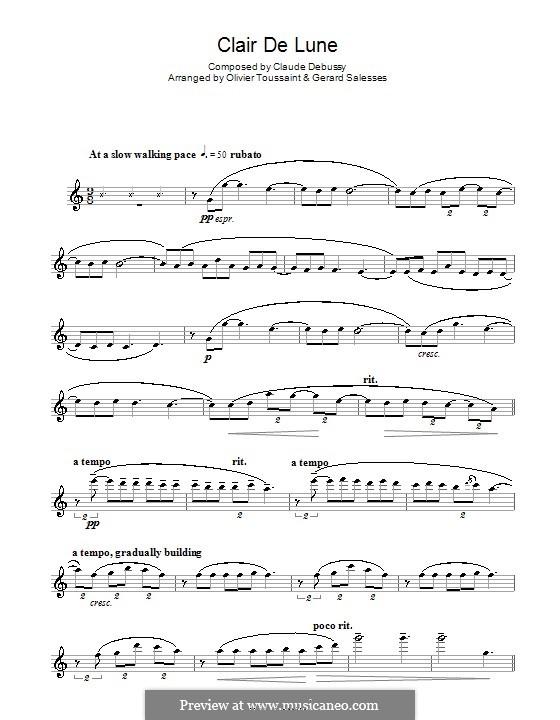 No.3 Лунный свет: Для флейты by Клод Дебюсси