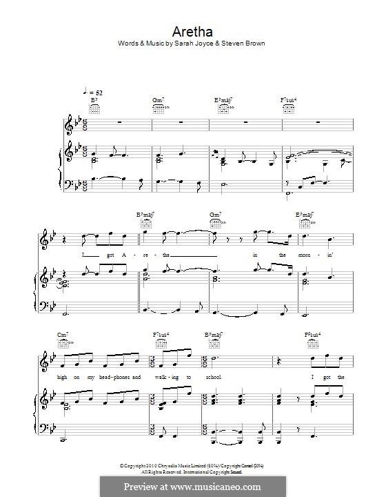 Aretha (Rumer): Для голоса и фортепиано (или гитары) by Christopher Steven Brown, Sarah Joyce