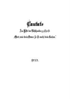 Как имя Твое, Боже, так и хвала Твоя, BWV 171: Партитура by Иоганн Себастьян Бах