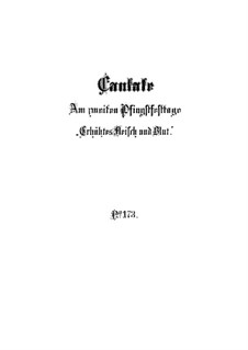 Erhöhtes Fleisch und Blut (Exalted Flesh and Blood), BWV 173: Партитура by Иоганн Себастьян Бах