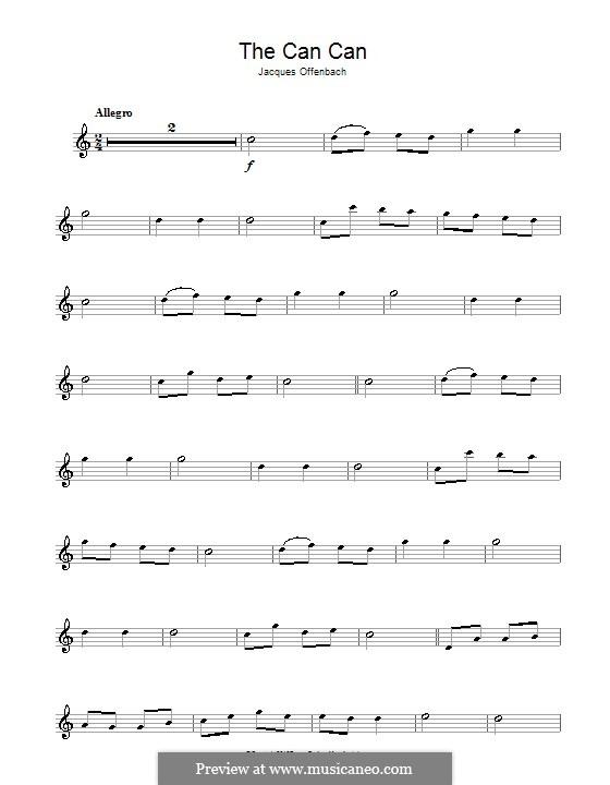 Канкан: Для альт-саксофона и фортепиано – сольная партия by Жак Оффенбах