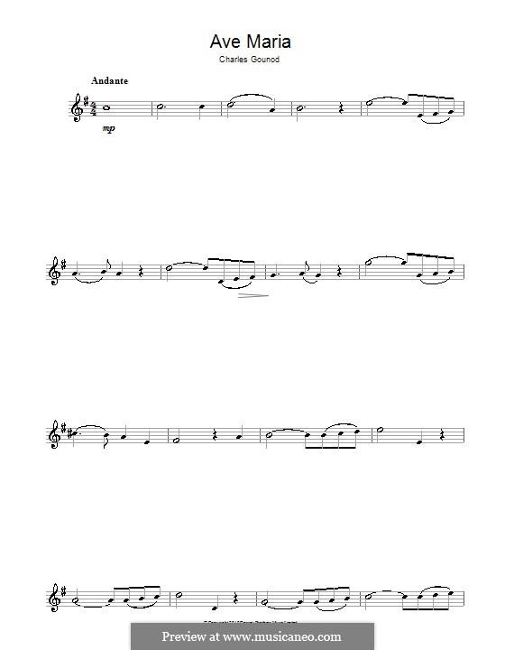Ave Maria (Printable Sheet Music): Для альтового саксофона by Иоганн Себастьян Бах, Шарль Гуно