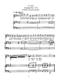 Erhöhtes Fleisch und Blut (Exalted Flesh and Blood), BWV 173: Аранжировка для голосов и фортепиано by Иоганн Себастьян Бах