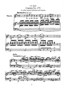 Он зовет своих овец по имени, BWV 175: Аранжировка для голосов и фортепиано by Иоганн Себастьян Бах