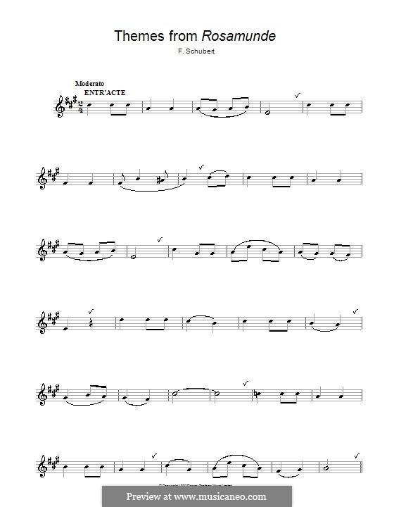 Увертюра: Для альтового саксофона by Франц Шуберт